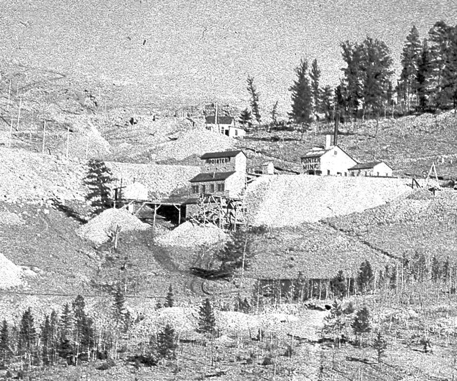 Pointer Mine & Ore House up on lower Gold hill, near the Low Line Big Cut on the left side.