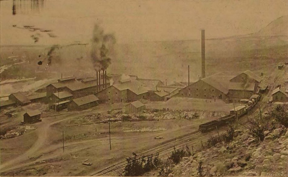 This bad quality view shows most of the structures making up this large mill operation near the Colorado Midland tracks in Colorado City.
