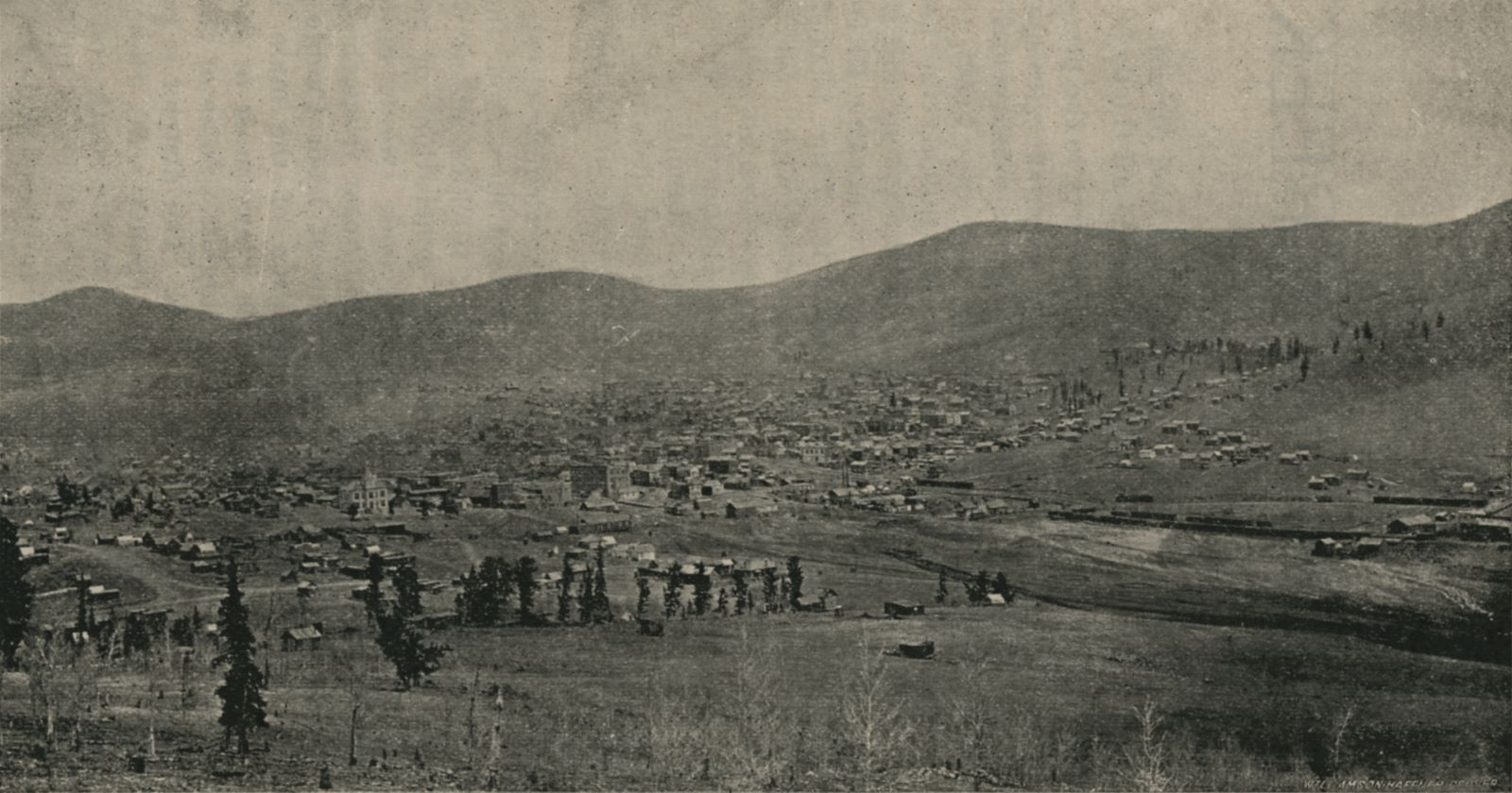 City of Cripple Creek Looking East and Showing Gold and Globe Hills.