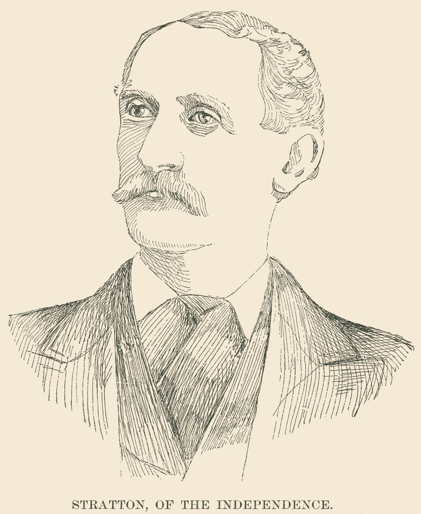 Line drawing of W.S. Stratton