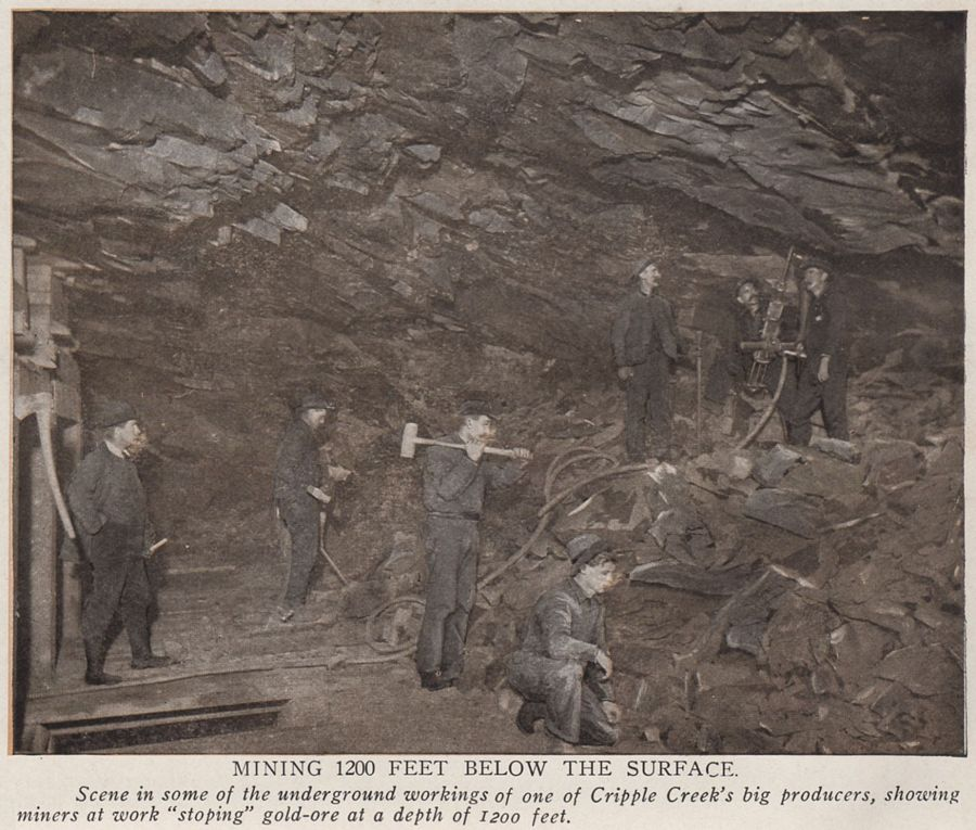 View of Underground Mining at 1200 feet below Surface