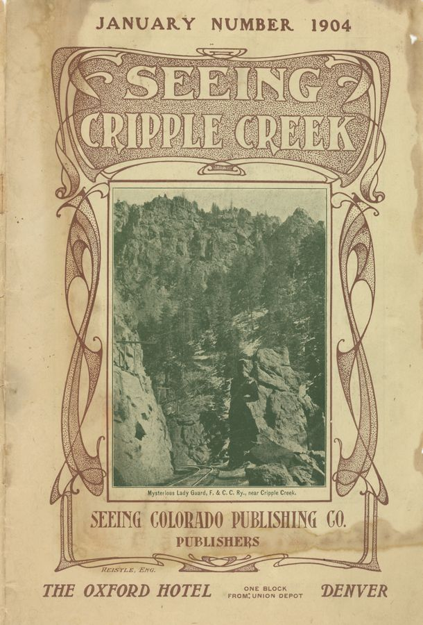 Front of the Seeing Cripple Creek January 1904 magazine