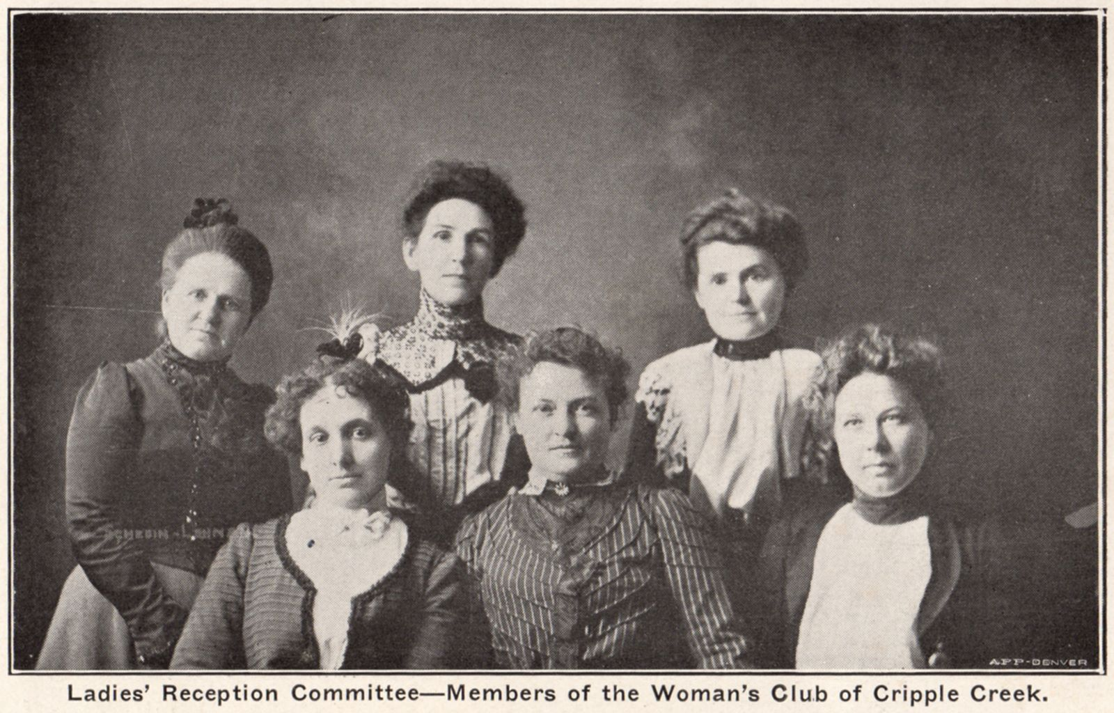 Ladies' Reception Committee - Members of the Woman's Club of Cripple Creek.