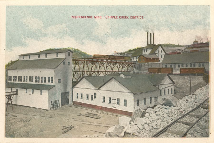 Later colored view of the Famous Independence Mine