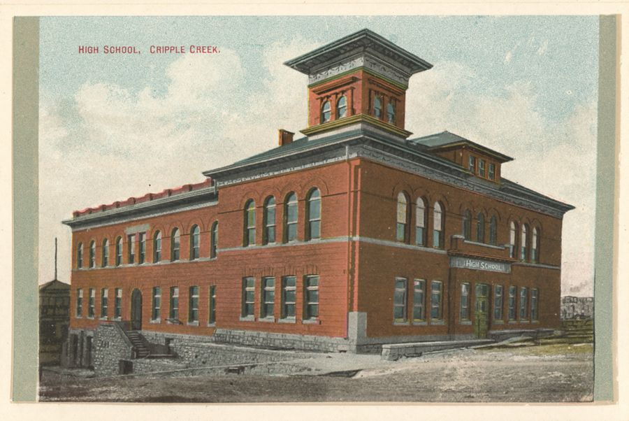High School, Cripple Creek.