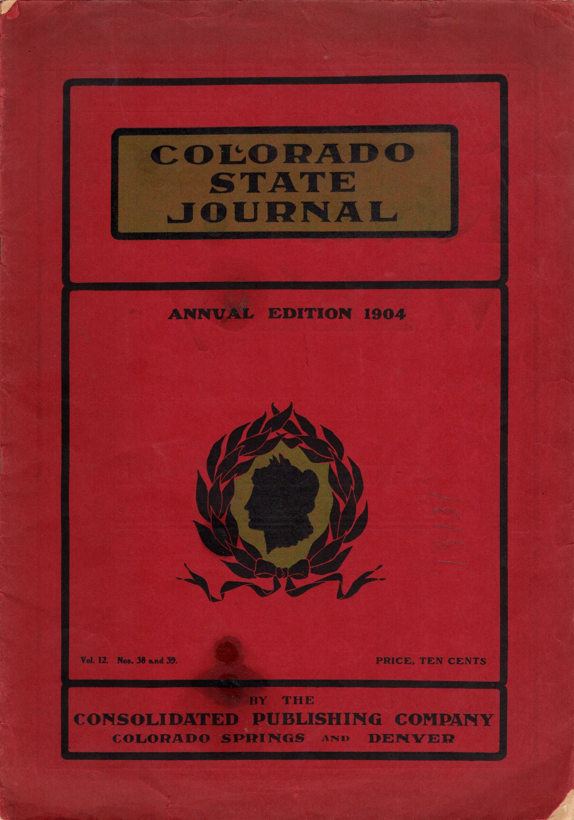 Front of Colorado State Journal, 1904 Annual Edition