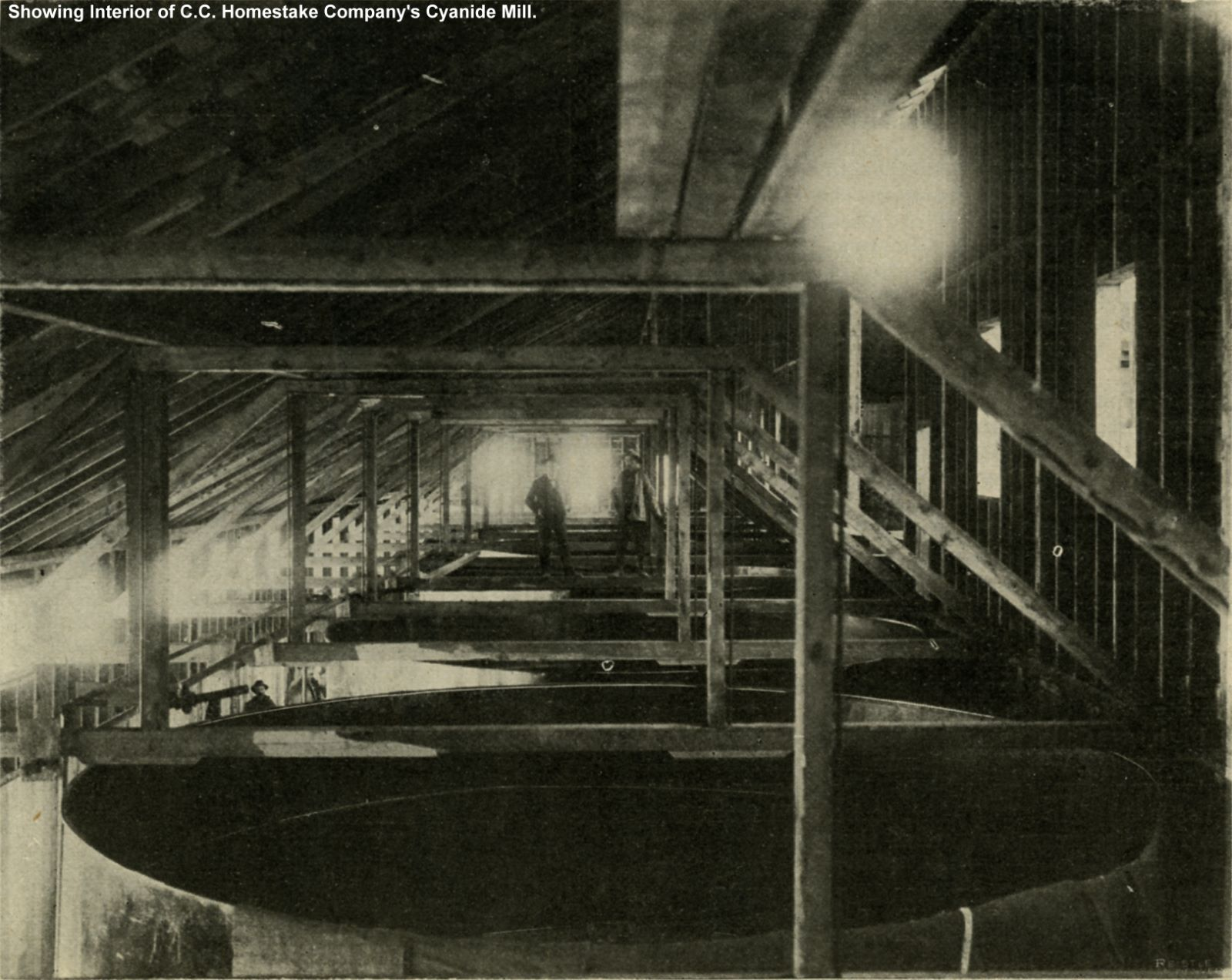 Showing Interior of C. C. Homestake Company's Cyanide Mill