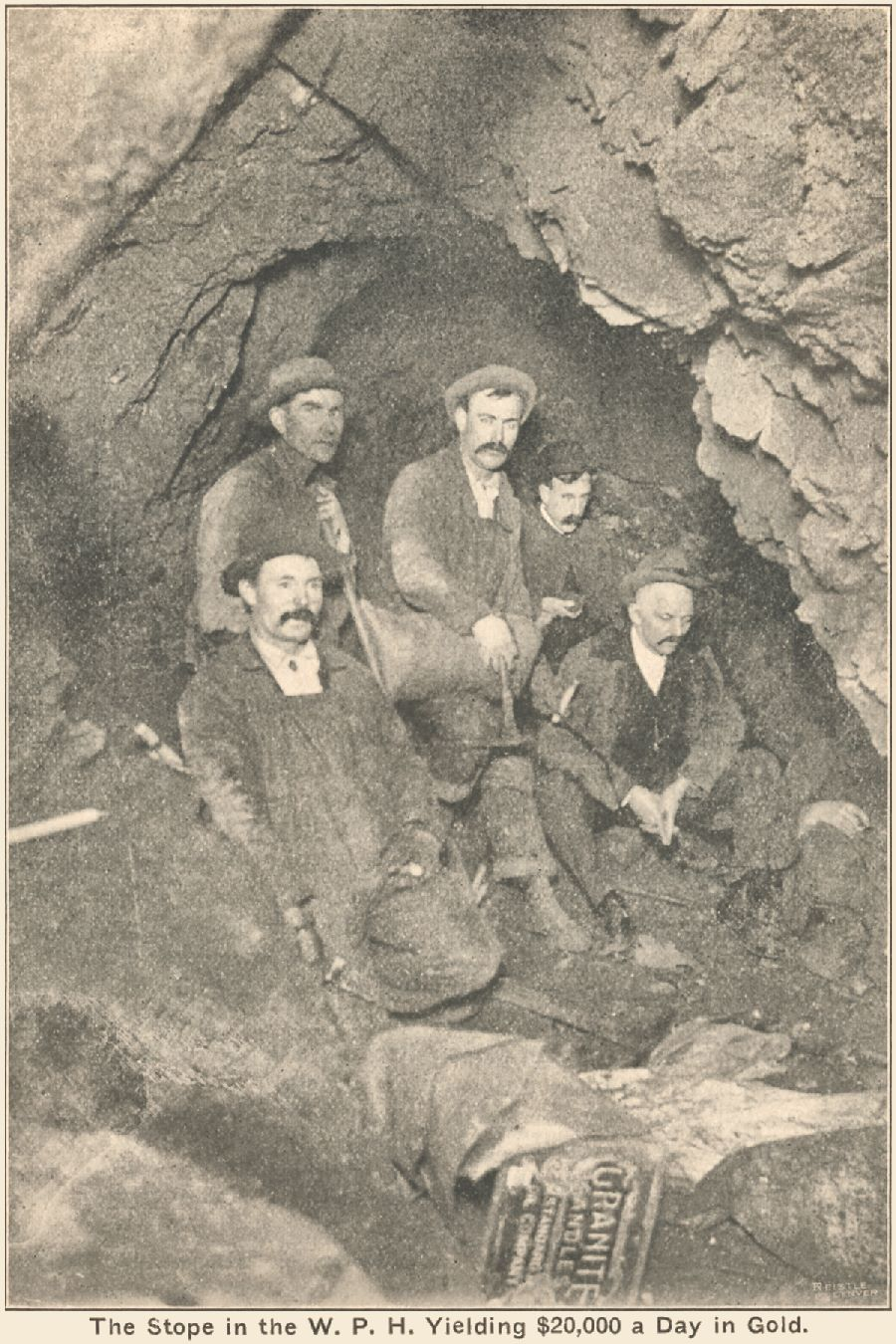 View underground of a Stope of the W.P.H. Mine