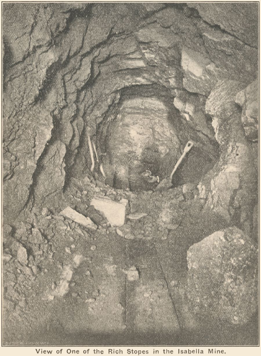 View of a Stope in the Isabella Mine