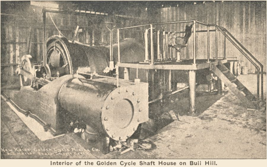 View of the New Hoist of the Golden Cycle Mine