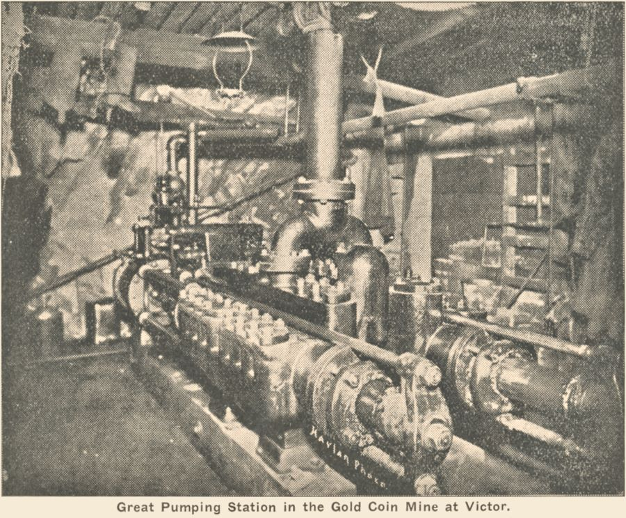 View underground Pumping Station at Gold Coin Mine