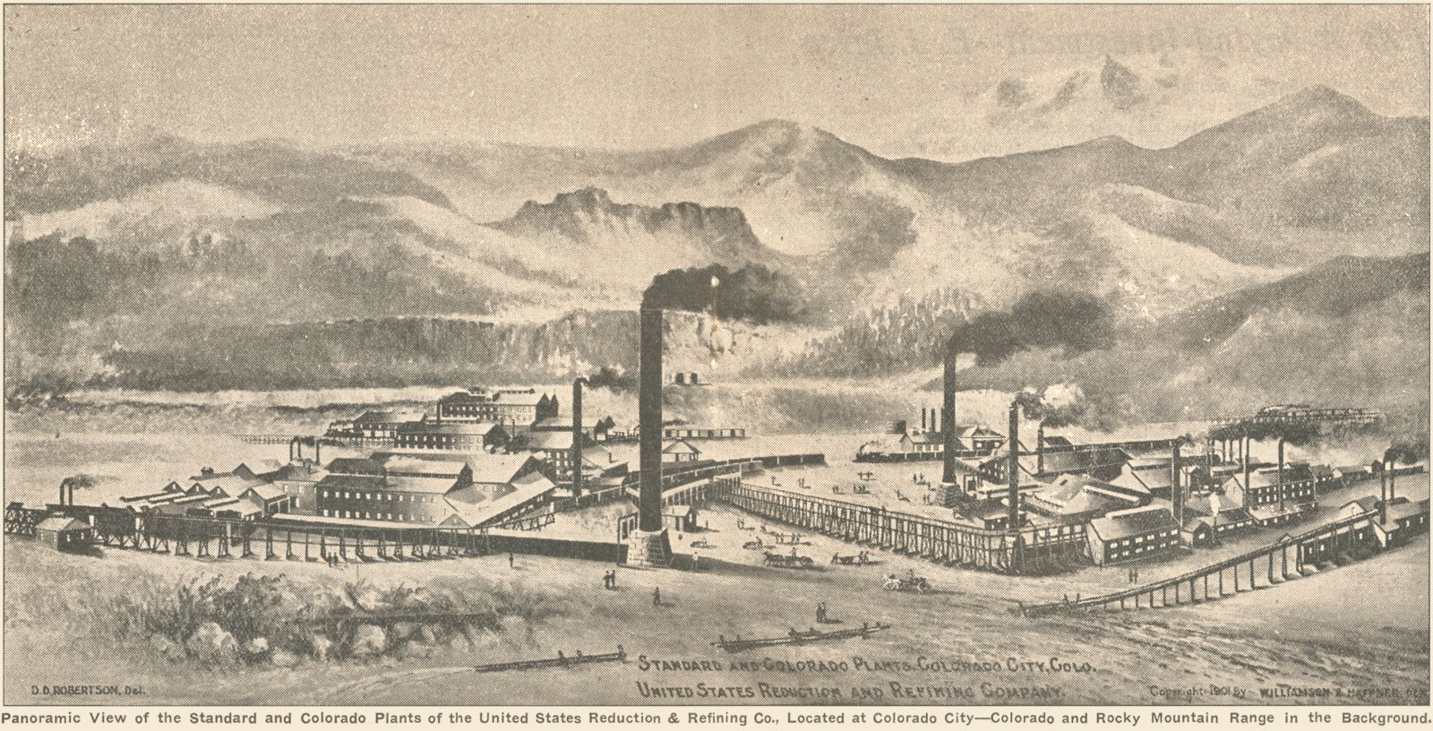 Artistic view of large mills in Colorado City