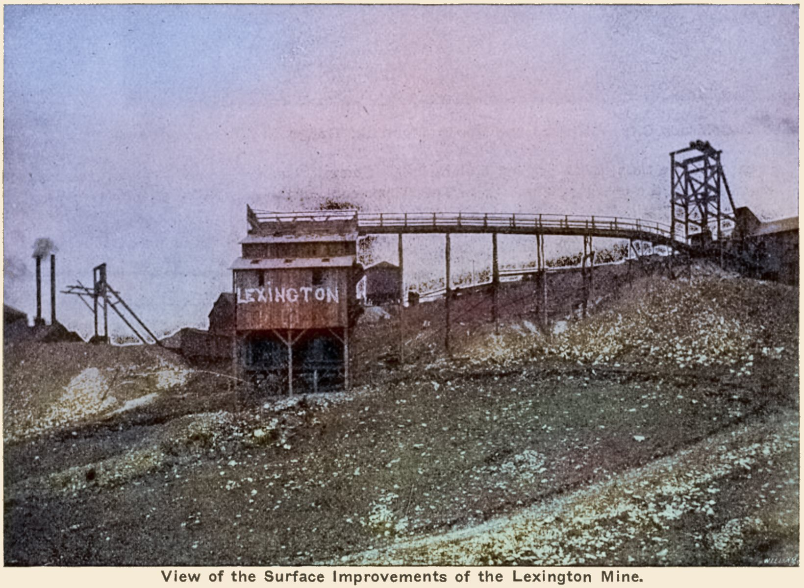 View of the Surface Improvements of the Lexington Mine.